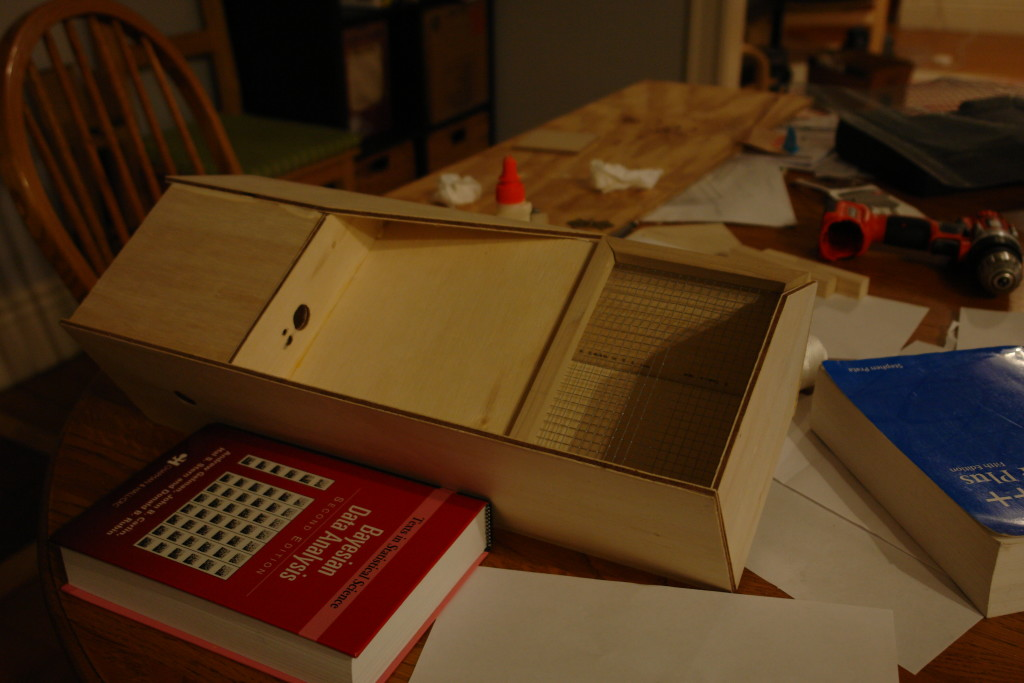 Gluing the enclosure, part 3: inserting the seed window.